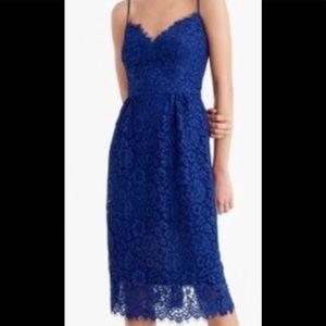 NWT J. Crew Perfect Party dress, Indigo: Size 10